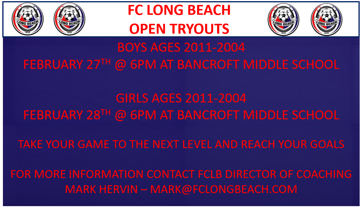 Open Tryouts - February 27th and 28th